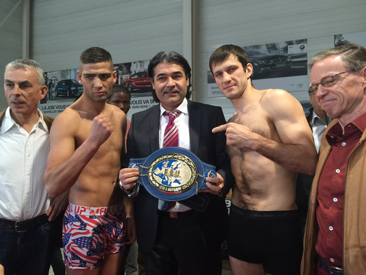 Wiegen - Hakim Chioui, Igor Mikhalkin und Erol Ceylan