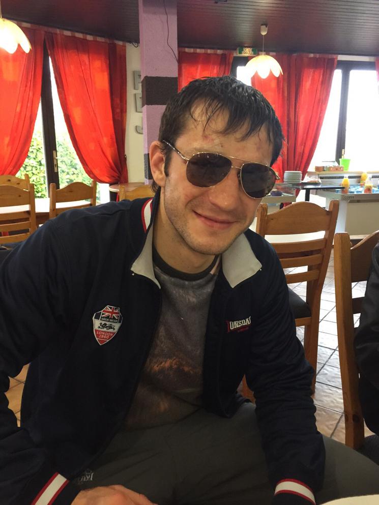 Igor Mikhalkin nach dem Kampf