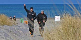 Robin Krasniqi an der Ostsee angekommen