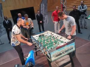 Kicker-Duell Bebraham vs. Tlatlik / Foto: Petko´s LMS Boxpromotion