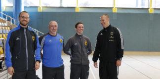 von links: Leutnant Max Schönemann, Stabsfeldwebel Achim Hoffmann, Hauptfeldwebel Marcus Abramowski, und Stabsunteroffizier der Reserve Mike Hanke (2x Vize-WM)