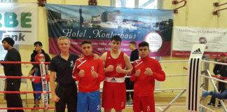 Michael Vogel, Ibrahim Aydemir, Kadetten-54 kg, Abbas Erol, Junioren-75 kg und Khaled El-Jarbi, Junioren-63kg / Foto: Michael Vogel