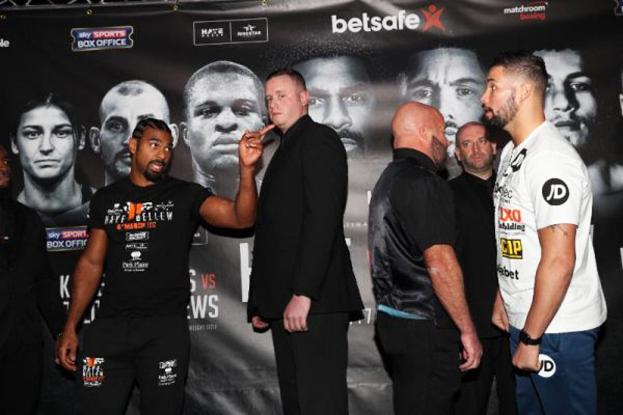 Haye vs Bellew weigh in