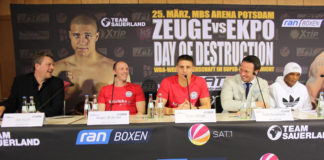 Pressekonferenz - Tyron Zeuge vs. Isaac Ekpo / Foto: Team Sauerland