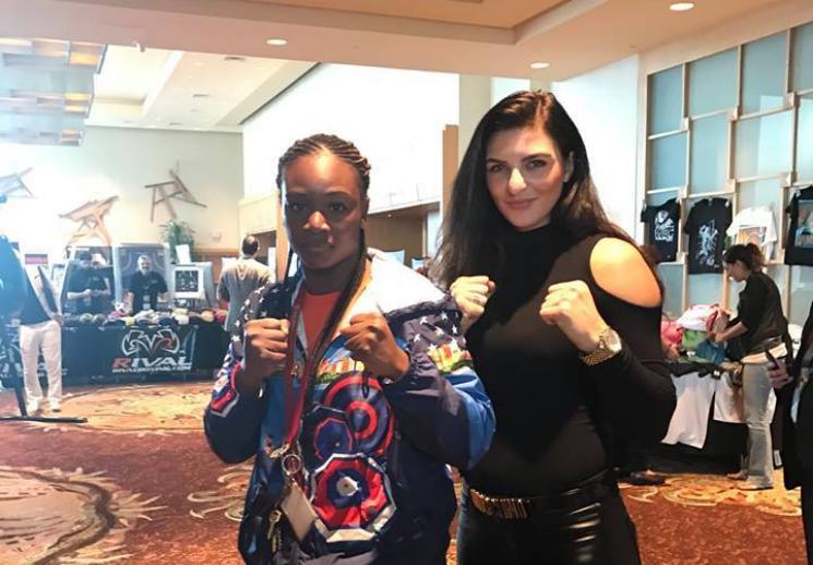 Claressa Shields und Christina Hammer 2016 auf der WBC Convention / Foto: Harald Pia