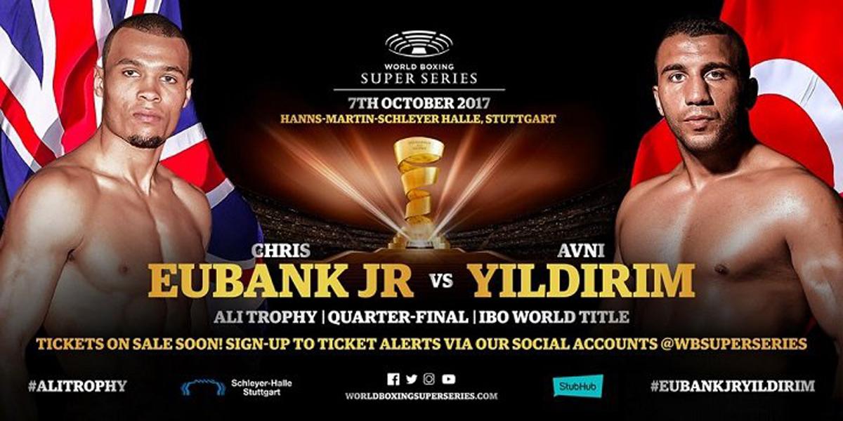 Am 7. Oktober stehen sich in der Stuttgarter Hanns-Martin-Schleyer-Halle, im Viertelfinale des Turniers um die Mohammad-Ali-Trophy, der Engländer Chris Eubank jr und der Türke Avni Yilderim gegenüber.