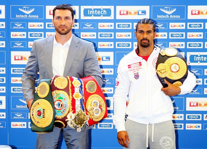Auch im Kampf gegen den Engländer David Haye am 2. Juli 2011 in Hamburg war Wladmir der einstimmige Punktsieger
