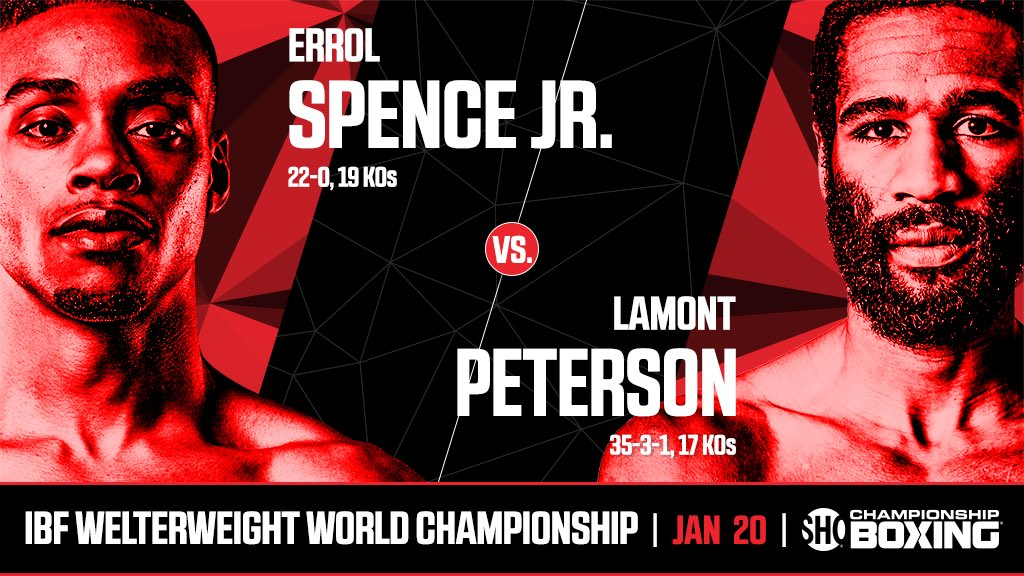 Errol Spence Jr vs. Lamont Peterson Poster