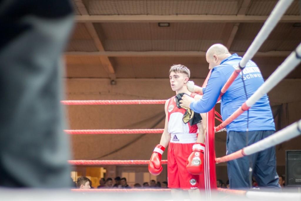 Robert Jitaru (in Rot) / Foto: Boxclub TRAKTOR Schwerin