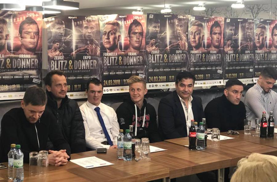 """Pressekonferenz vor der Veranstaltung """"Blitz & Donner"""" am 24. März in Hamburg / Foto: EC Boxing"""