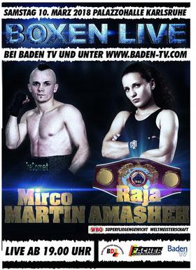 Raja Amasheh und Mirco Martin kämpfen um WBO- und WBC-Titel