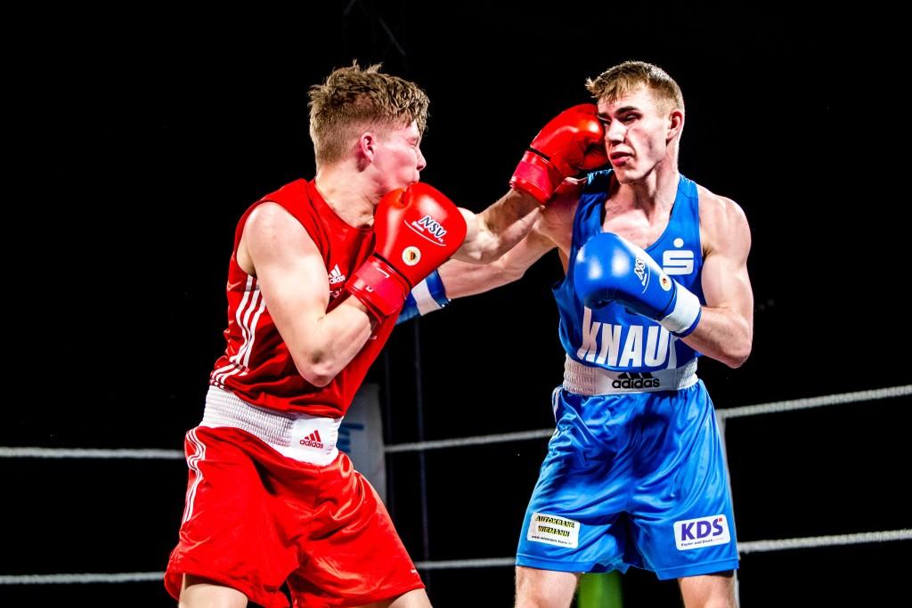 NSV-Boxer Richard Meinecke (rechts) gegen Henry Grün / Foto: Christoph Kei