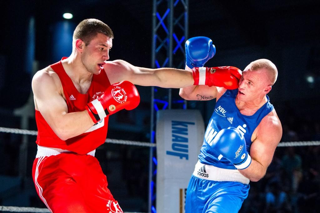 Nordhäuser Lichtblick Schwergewichtler Peter Mullenberg (rechts) mit überzeugender Leistung / Foto: Christoph Keil