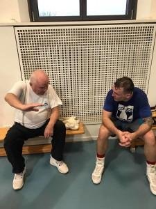 Trainerlegende Ulli Wegner zusammen mit Slawa Spomer