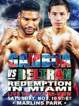 Gamboa vs Beltran Fight-Poster