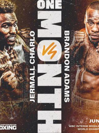 Jeramall Charlo vs Brandon Adams Fightposter