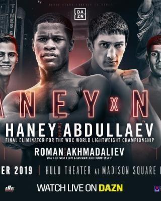 DEVIN HANEY VS ZAUR ABDULLAEV Poster