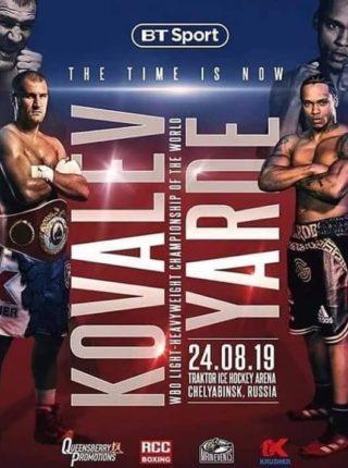 Kovalev vs Yarde Poster