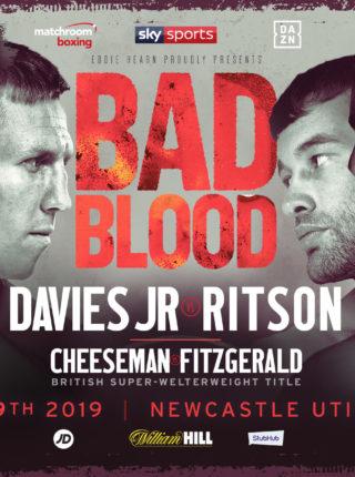 DAVIES JR VS. RITSON Poster