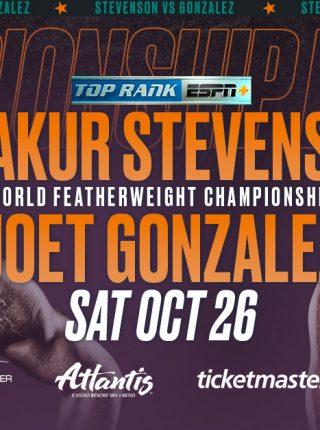 Shakur Stevenson vs Joet Gonzalez Poster