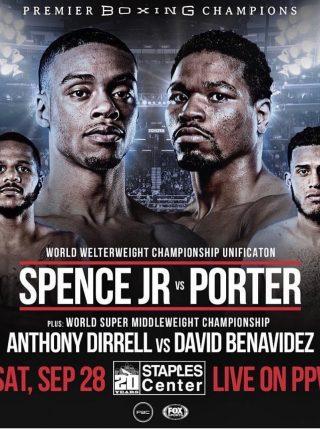Spence Jr vs Porter Poster 1