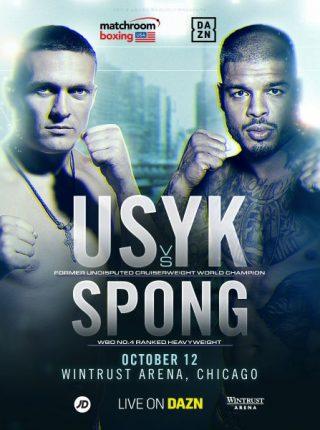 Usyk vs Spong Poster 1