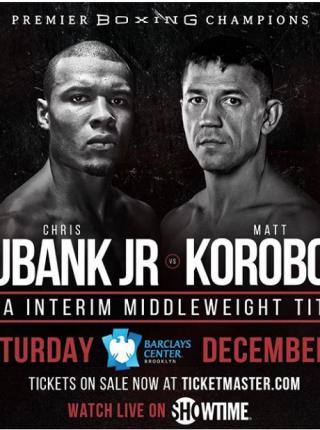 Eubank jr vs Korobov Poster