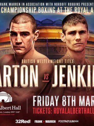 Chris Jenkins vs Johnny Garton Poster