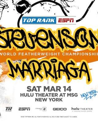 Shakur Stevenson vs Miguel Marriaga Poster