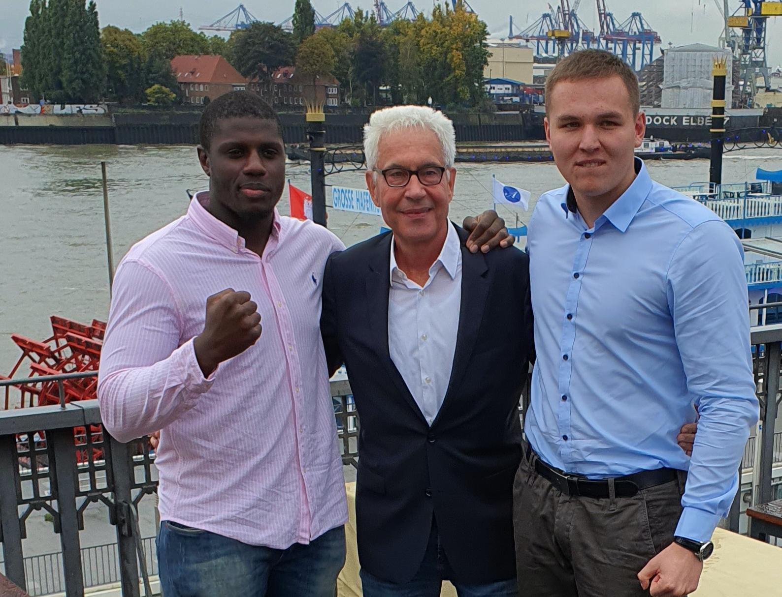 Peter Kadiru, Bernd Bönte und Victor Jurk