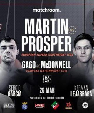 Sandor Martin vs Kay Prospere Poster