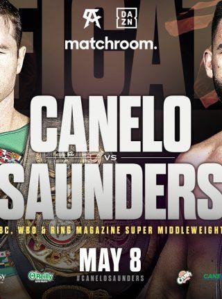 Canelo vs Sainders Poster