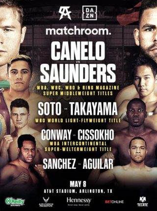 Canelo vs Saunders Poster