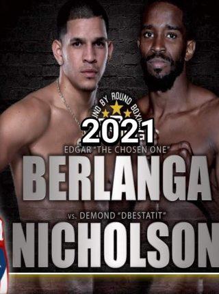 Edgar Berlanga vs Demond Nicholson Poster